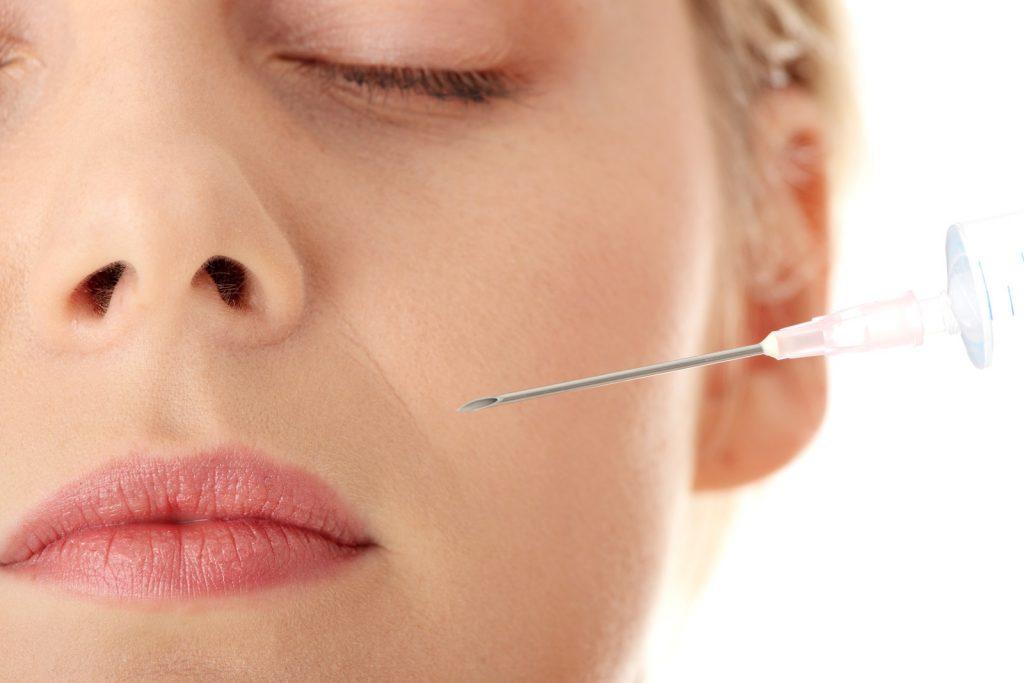 woman got botox injection